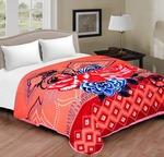 Spangle Self Design Double Mink Blanket  (Polyester, Peach, Orange, Multicolor)