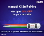 Myles azaadi ki self drive offer : Get upto 25% off on your next drive.