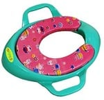 BabyGo Soft Cushion Potty Trainer Comfortable Seat with Support Handles (Sea Green)