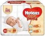 Huggies Ultra Soft XS Size Diaper Pants (20 Count