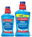 Colgate Plax Mouthwash - 250 ml (Peppermint) with Plax Mouthwash - 500 ml (Peppermint)