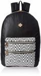 HOOM Synthetic Black School Backpack (HMSOSB 010-HM(Black))