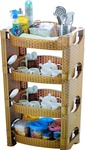 La Corsa Plastic Wall Shelf  (Number of Shelves - 4)