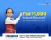 Flat 1000 off on flight booking above 5000 on Flipkart using hdfc bank card
