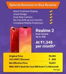LIVE - Realme 2 @ ₹8091 with 10% HDFC Discount