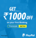 Save 1000₹ on Flights with Min Transaction of 2500₹ when you pay using PayPal for the 1st Time