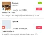 magicpin- can now buy gvs of amazon & flipkart using 10% of balance