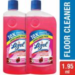 Lizol Disinfectant Floor Cleaner - 975 ml (Pack of 2, Floral)