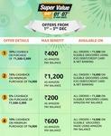 UPCOMING   Amazon Super Value Day Offer - Get ₹1200 Cashback with Federal & IndusInd Banks   4-7 Dec