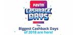 Last Day of Paytm Mall Cashback Days 12-16 Dec : Upto 70% Cashback on Fashion, Electronics, Kitchen & More