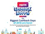 Paytm Cashback Days 12-16 Dec :- Pay using Paytm at Local Stores , Supermarkets & Restaurants & Get Exciting Cashback every time