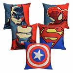 "Aerohaven Decorative Hand Made Digitally Printed Abstract 5 Piece Cotton Cushion Cover - 16"" x 16"", Multicolour"