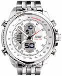 Skmei Analog-Digital Black Dial Men's Watch-993-White