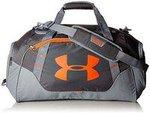 Under Armour Bags 24.8 Inch Rhino Gray/Magma Orange Travel Duffle