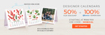 Zoomin : Flat 50% discount + 100% mobikwik supercash on designer calendars.