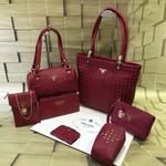 Women Handbag Set of 7,Handbag, Shoulder Bag, Wallet, Pouch, Sling Bag,