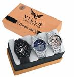 [Combo Of 3]Vills Laurrens Analogue Multicolor Dial Men's & Boy's Watch