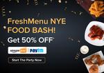 Freshmenu - Flat 50% cashback upto 100 with Amazon Pay (all users) | 31st Dec - 1st Jan