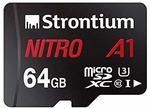 [71% off] Strontium Nitro A1 64GB Micro SDXC Memory Card 100MB/s A1 UHS-I U3 Class 10