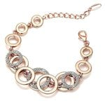 Shining Diva Fashion High Quality AAA Crystal 18k Rose Gold Stylish Jewellery for Women and Girls