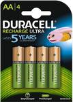 Duracell 2500mAh Pre Charged Rechargeable AA Batteries, 4 Batteries Camera Ni-MH Battery