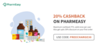 20% Freecharge Cashback upto ₹75 on Pharmeasy + 30% off on your first order   1-31 Jan