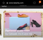 Shoes/sandals upto 50% off on tatacliq