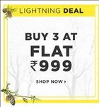 Buy 3 at Rs.999 (Roadster, Mast & Harbour, Here & Now, Libas, etc)
