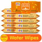 Bey Bee Baby Water Wipes (Pack of 10, 80 Sheets per Pack)