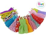 Beautiful Handmade Party Dress Fashion Clothes for Barbie Doll (12 Pieces)