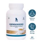 Ashwagandha Pure Natural Extract 500mg Veg Capsule 50%OFF