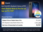 Redmi Note 6 Pro @ ₹2,799 with Flat 80% Buyback Value at ₹99