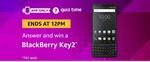 Amazon Quiz Answers 13th January | Win BlackBerry Key 2 | 8AM - 12PM
