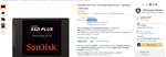SanDisk SSD Plus 1TB Solid State Drive - From Amazon Global Store @ Rs. 11,313.38
