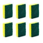 Cello Kleeno Sponge Scrub Pad (Green and Yellow, Pack of 6)