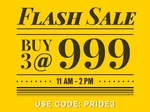 NNNOW Flash Sale: Buy 3 at ₹999 (11am-2pm)