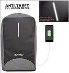 FITKIT ANTI THEFT Grey BACKPACK at 868/- (Black @1600+)