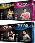 Totos WEAR DAY NIGHT PRENIUM MINT & CHOCOLATE & BANANA & STRAWBERRY MULTI TEXTURE COMBO PACK Condom  (Set of 4, 40S)