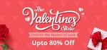 Valentines Sale Upto 80% Off On Gifts & More