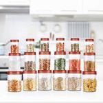 Lightning deal on Milton Vitro Plastic Jar Set, 18- Pieces, Transparent