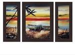 Wens 'Sea Side' Wall Art (MDF, 30 cm x 34 cm x 1.5 cm, WSP-4259)