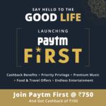 "Launching""Paytm First""— premium loyaltyprogram"