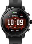 Huami Amazfit Stratos Black Smartwatch  (Black Strap Free Size)