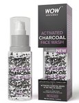 WOW Activated Charcoal Face Wash with Activated Charcoal Beads