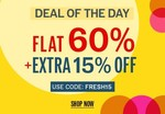 NNNOW Deal of the Day : Flat 60% + Extra 15% OFF