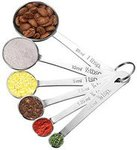 Lifetime Homitt Multifunction Stainless Steel Cup Spoon Set of 6 with Precise Measurements for Cooking and Baking