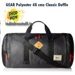 GEAR Polyester 48 cms Grey and Black Classic Duffle
