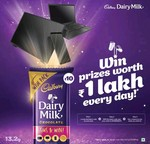 Cadbury Dairy Milk Wish Pack : Get a chance to win LED TVs, laptops and smartphones worth ₹1 lakh every day!*