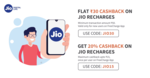 Freecharge Jio:  Rs.30 Cashback on Rs.50 for new & Rs.15 Cashback on Rs.75 for All
